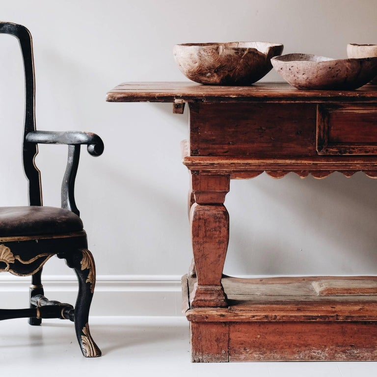 Exceptional 18th Century Swedish Baroque Table In Good Condition For Sale In Helsingborg, SE