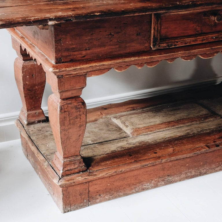 Exceptional 18th Century Swedish Baroque Table For Sale 1