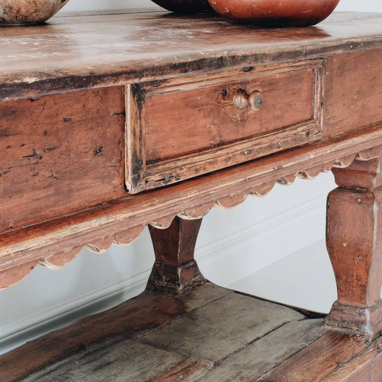 Exceptional 18th Century Swedish Baroque Table For Sale 3