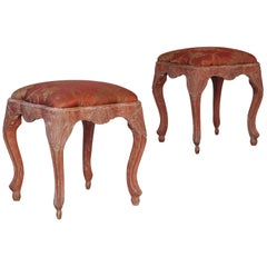 Exceptional 18th Century Swedish Rococo Stools