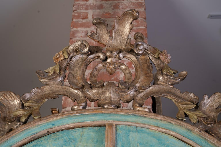 Exceptional 18thc Painted Venetian Secretary Desk In Fair Condition For Sale In New Orleans, LA