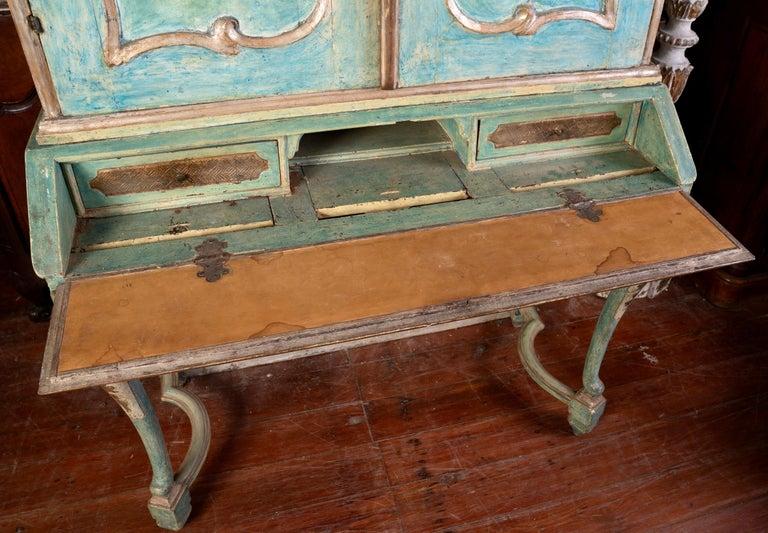 Exceptional 18thc Painted Venetian Secretary Desk For Sale 1