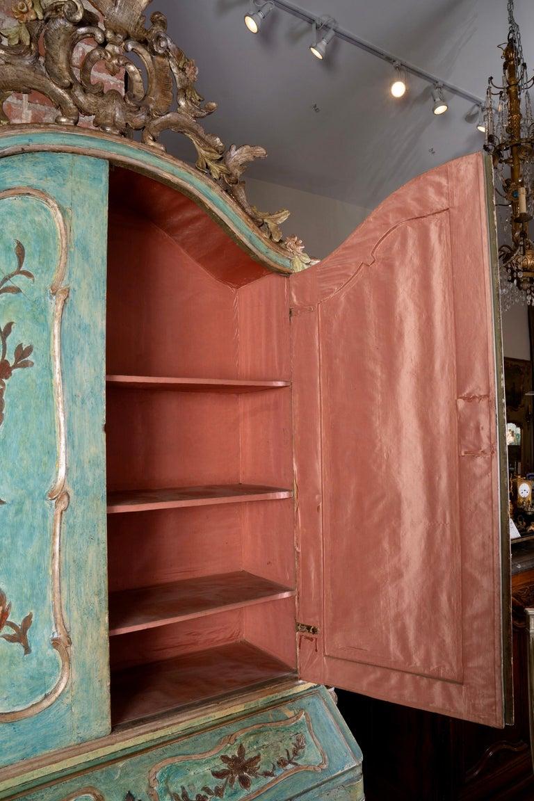 Exceptional 18thc Painted Venetian Secretary Desk For Sale 2