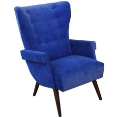 Exceptional 1950s Austrian Wingback Chair Attributed to Oskar Payer