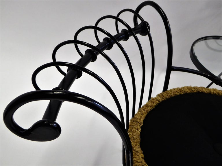 Exceptional 1950s Wrought Iron Tete a Tete or Settee in the Style of Tempestini For Sale 3