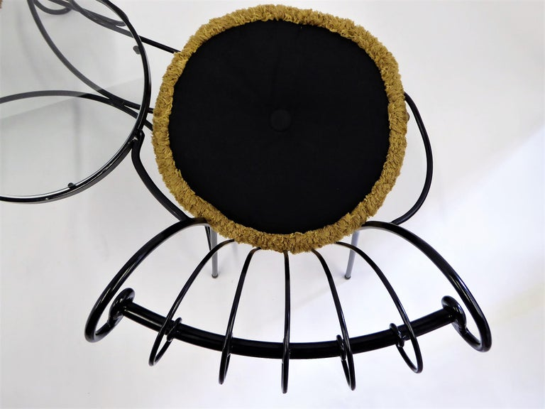 Exceptional 1950s Wrought Iron Tete a Tete or Settee in the Style of Tempestini For Sale 4