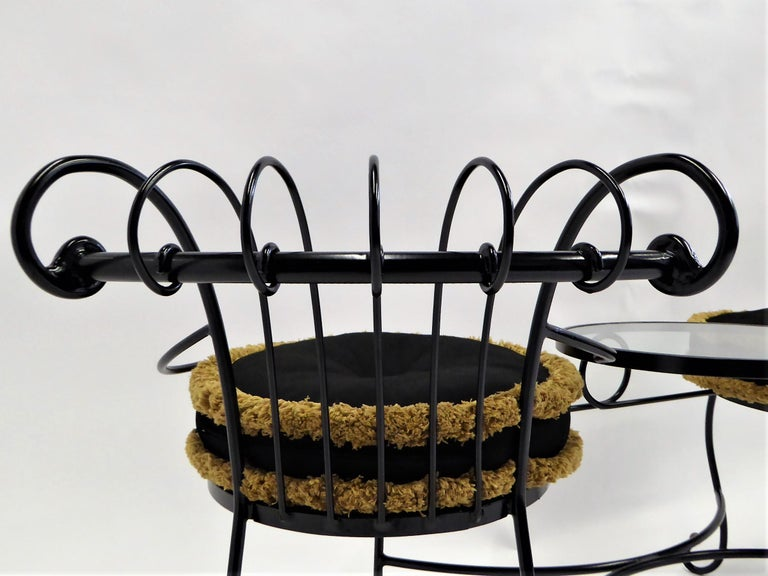 Exceptional 1950s Wrought Iron Tete a Tete or Settee in the Style of Tempestini For Sale 5
