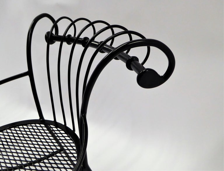 Exceptional 1950s Wrought Iron Tete a Tete or Settee in the Style of Tempestini For Sale 7