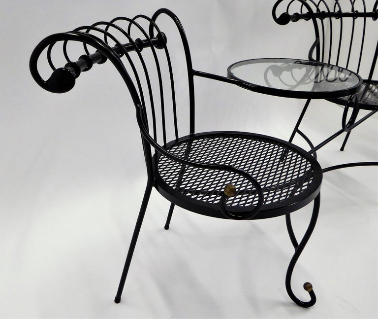 Exceptional 1950s Wrought Iron Tete a Tete or Settee in the Style of Tempestini For Sale 8