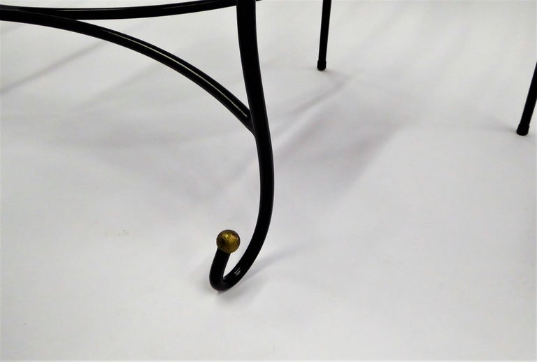 Exceptional 1950s Wrought Iron Tete a Tete or Settee in the Style of Tempestini For Sale 1