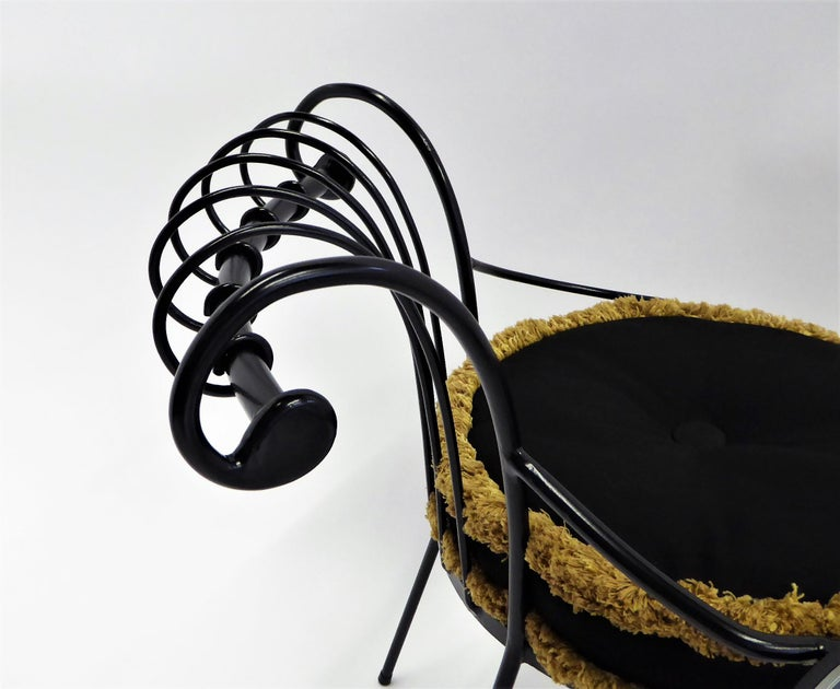Exceptional 1950s Wrought Iron Tete a Tete or Settee in the Style of Tempestini For Sale 2