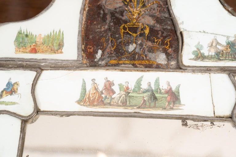 Italian Exceptional 19th Century Eglomise Venetian Mirror For Sale