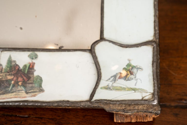 Exceptional 19th Century Eglomise Venetian Mirror In Fair Condition For Sale In New Orleans, LA