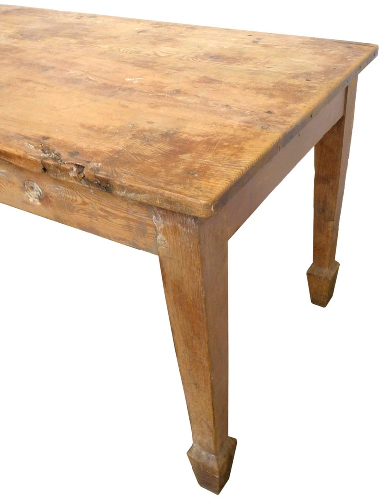 Primitive Exceptional 19th Century English Farm Dining Table For Sale