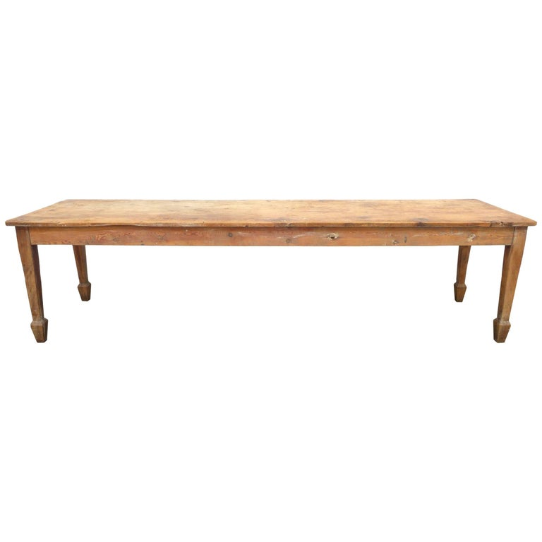Exceptional 19th Century English Farm Dining Table For Sale
