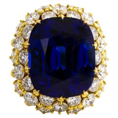 Exceptional 50 Carat Tanzanite Ring with 10 Carat of Diamonds