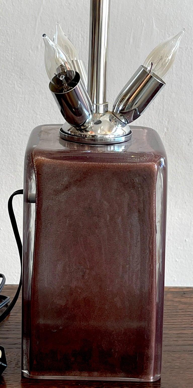 Murano Glass Exceptional Amethyst Murano 'Mushroom' Lamp by,  Barbini For Sale