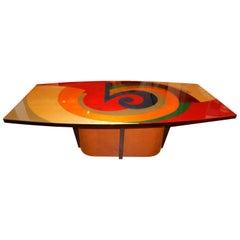 Exceptional and Rare Artisan Table by Benjamin Le, circa 1980