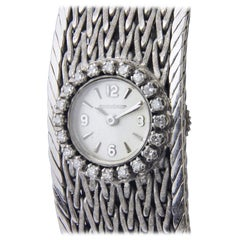 Exceptional and Rare Jaeger-LeCoultre 18 Karat White Gold and Diamond Watch