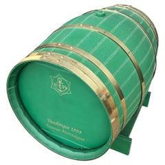 Exceptional and Unique Leather Barrel by Louis Vuitton for Veuve Clicquot
