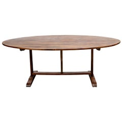 Exceptional Antique French Walnut Vineyard Harvest Table