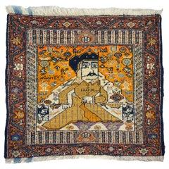 Exceptional Antique Persian Carpet Featuring Karim Khan Zand, circa 1880