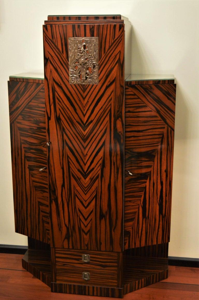 Exceptional Art Deco Cabinet in Macassar by Joseph De ...