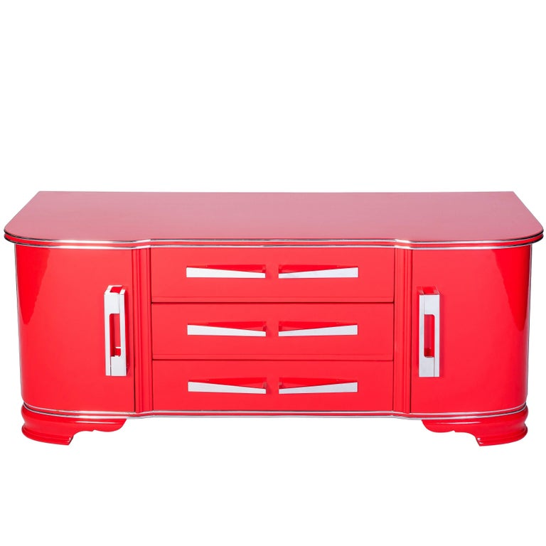 Exceptional Art Deco Commode in Cherry