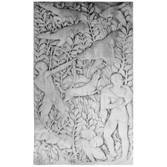Exceptional Art Deco Limestone Bas-Relief