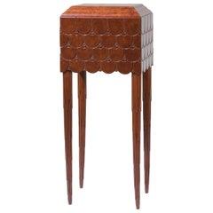 "Exceptional Art Deco ""Tortoise"" Thuja Cabinet / Pedestal, 1930s"