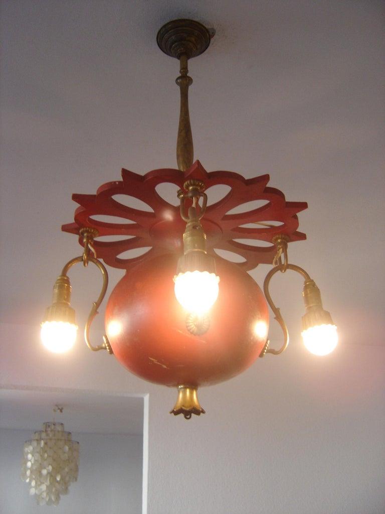 Exceptional Art Nouveau Chandelier or Pendant Lamp 'Granate Apple', 1900 Germany For Sale 2
