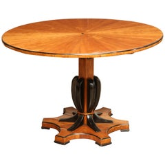 Exceptional, Austrian Cherrywood and Ebonized Centre Table