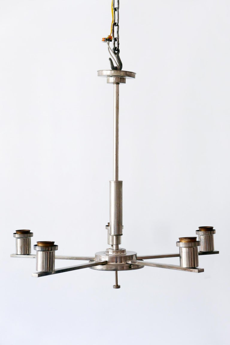 Exceptional Bauhaus / Art Deco Chandelier or Pendant Lamp, 1930s, Germany For Sale 12