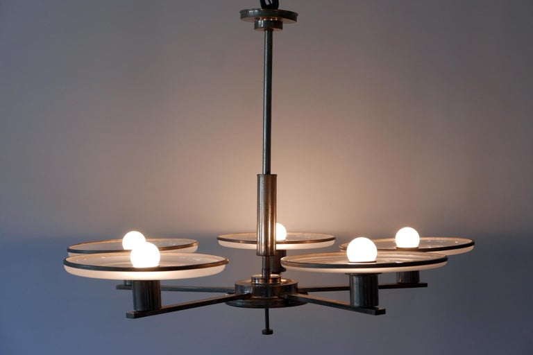 Mid-20th Century Exceptional Bauhaus / Art Deco Chandelier or Pendant Lamp, 1930s, Germany For Sale