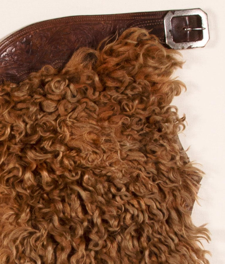 American Exceptional, Blonde Wooly Angora Chaps, ca 1880-1920 For Sale