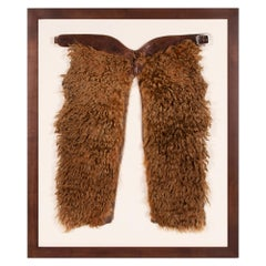 Exceptional, Blonde Wooly Angora Chaps, ca 1880-1920