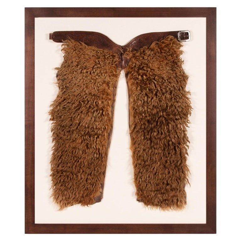 Exceptional, Blonde Wooly Angora Chaps, ca 1880-1920 For Sale