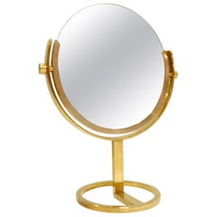 Exceptional Brass Vanity Table Top Mirror by Charles Hollis Jones