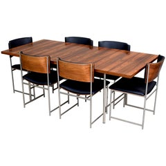 Exceptional Brazilian Rosewood Dining Set by Cees Braakman, circa 1950