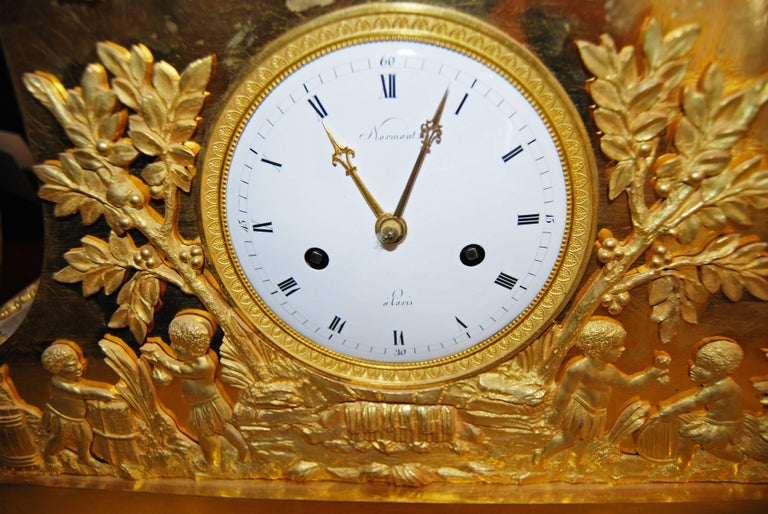 French Exceptional Bronze Bon Sauvage Clock For Sale