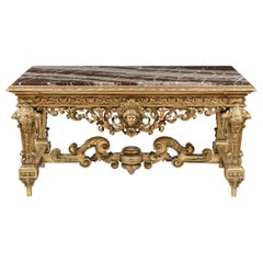 Exceptional Carved Giltwood Centre Table in the Louis XIV Style