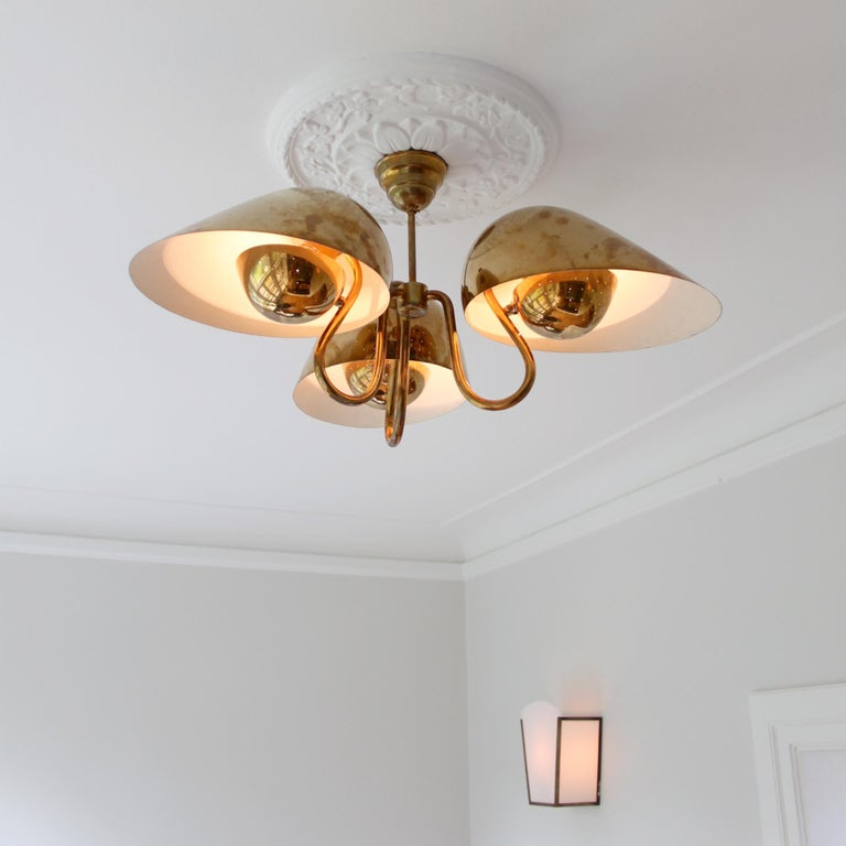 Exceptional Chandelier by Carl-Axel Acking, Sweden, 1940s In Good Condition For Sale In Copenhagen, DK