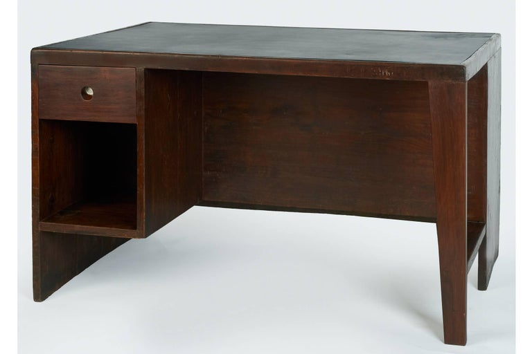 Exceptional Chandigarh Pigeonhole Desk by Pierre Jeanneret, France/India c. 1957 In Excellent Condition For Sale In New York, NY