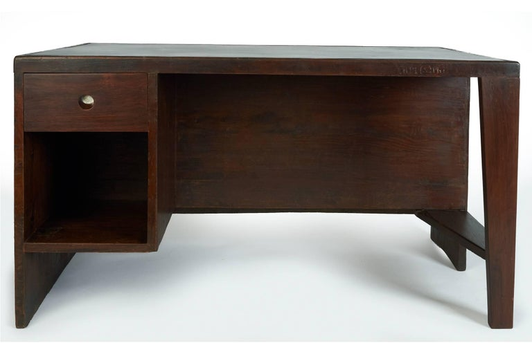 Mid-20th Century Exceptional Chandigarh Pigeonhole Desk by Pierre Jeanneret, France/India c. 1957 For Sale