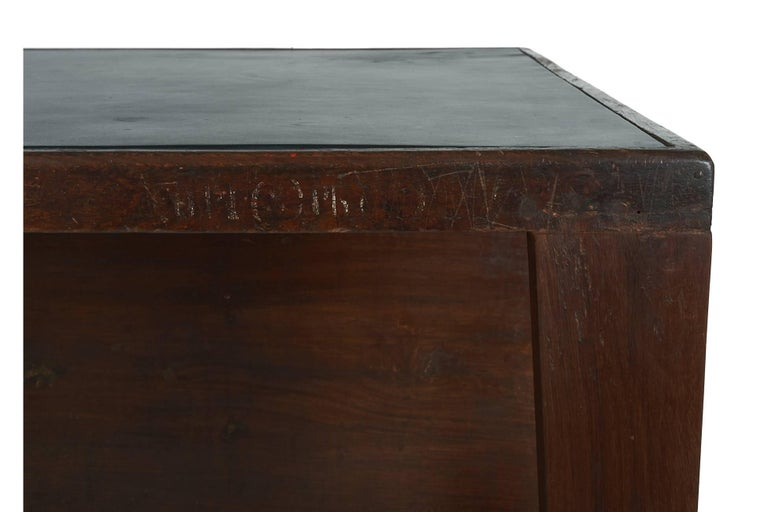 Exceptional Chandigarh Pigeonhole Desk by Pierre Jeanneret, France/India c. 1957 For Sale 1