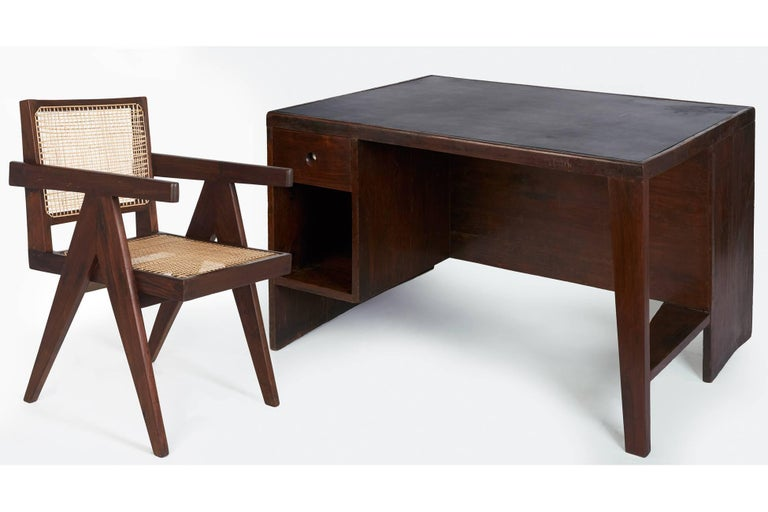 Exceptional Chandigarh Pigeonhole Desk by Pierre Jeanneret, France/India c. 1957 For Sale 2