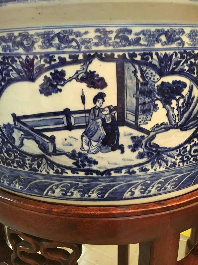 Exceptional Chinese Porcelain Planters, circa 1900 In Excellent Condition For Sale In Saint-Ouen, FR