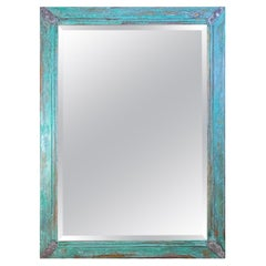 Exceptional Copper and Silver Beveled Wall Mirror