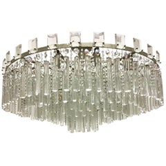 Exceptional Cut Crystal Chandelier by Bakalowits, Austria, circa 1950s