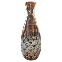 Exceptional Daum Nancy Large Art Deco Glass Vase